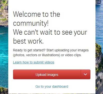 Shutterstock first image