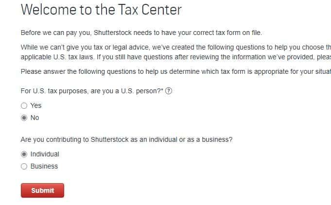 tax form shutterstock